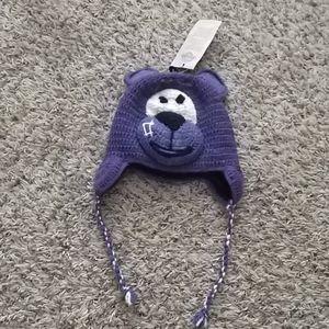Artesania handmade alpaca wool bear winter hat